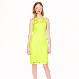 J. Crew Collection lace sheath dress